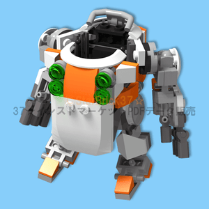 How to make a lego (LEGO) fig ride robot