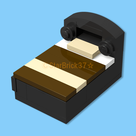 LEGO block black bed