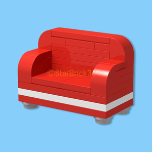 LEGO block red sofa