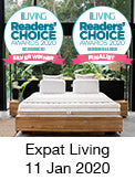 Best mattress & linen by Expat Living Reader's choice award