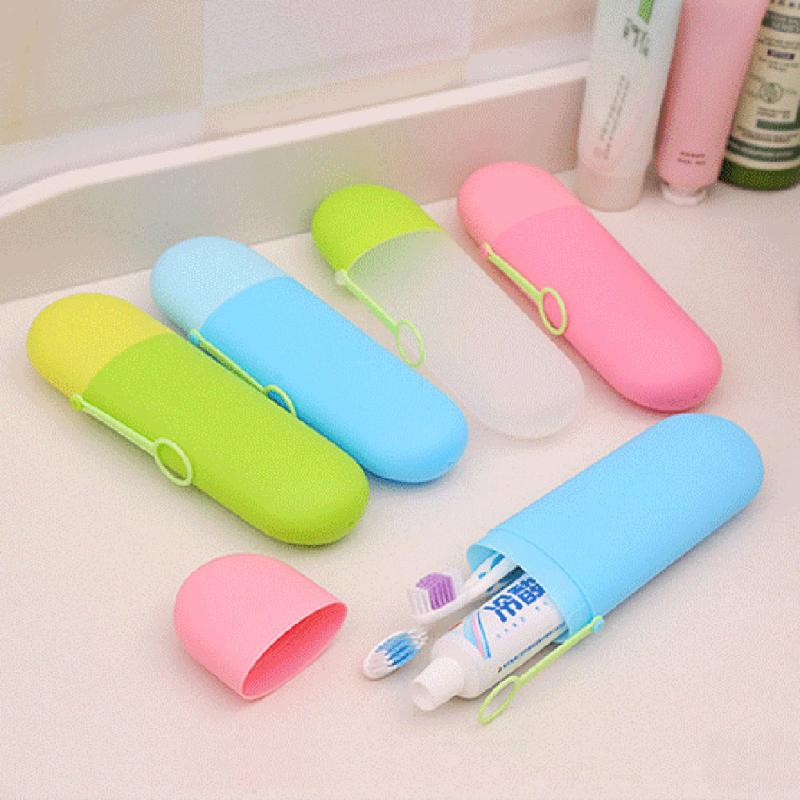 Plastic Travel Toothbrush Tooth Paste Storage Container Box Holder Case 34US