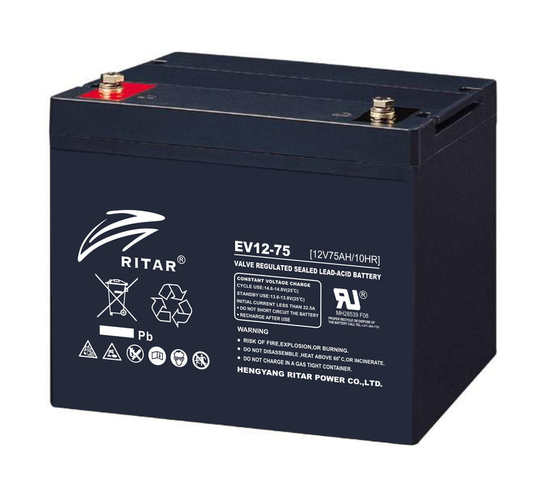 12 Volt 75Ah Sealed Lead Acid Battery