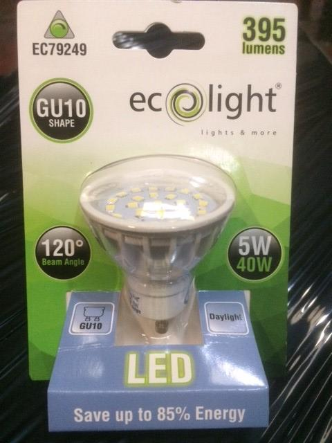 GU10 5 Watt Dimmable Daylight from the Batteryworldshop.com
