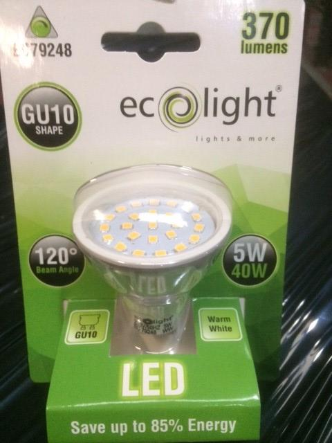 GU10 5 Watt Dimmable Warm White from the Batteryworldshop.com