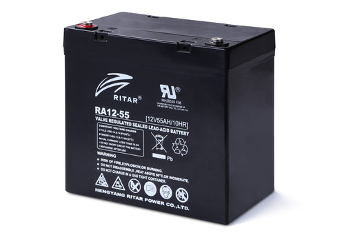 12 Volt 55Ah Sealed Lead Acid Battery