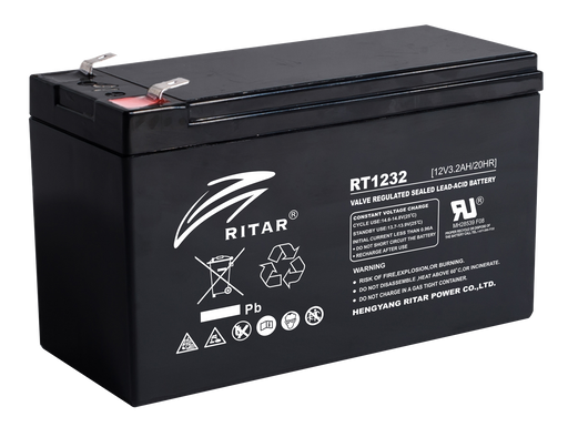12 Volt 3.4Ah Sealed Lead Acid Battery