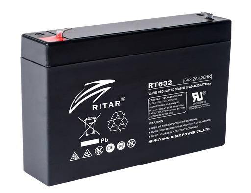 6 Volt 3.2Ah Sealed Lead Acid Battery