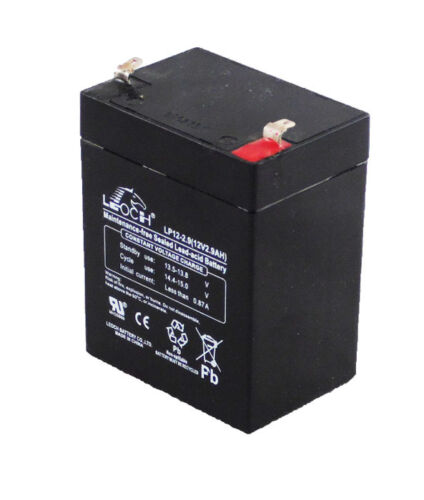 12 Volt 2.9Ah Sealed Lead Acid Battery