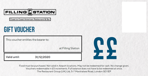 Digital Filling Station Gift Vouchers