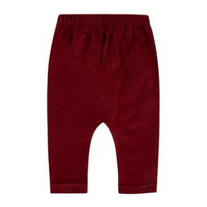 burgundy corduroy jogger pants for boy or girl