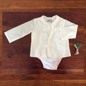 Ecru Button-Up Onesie