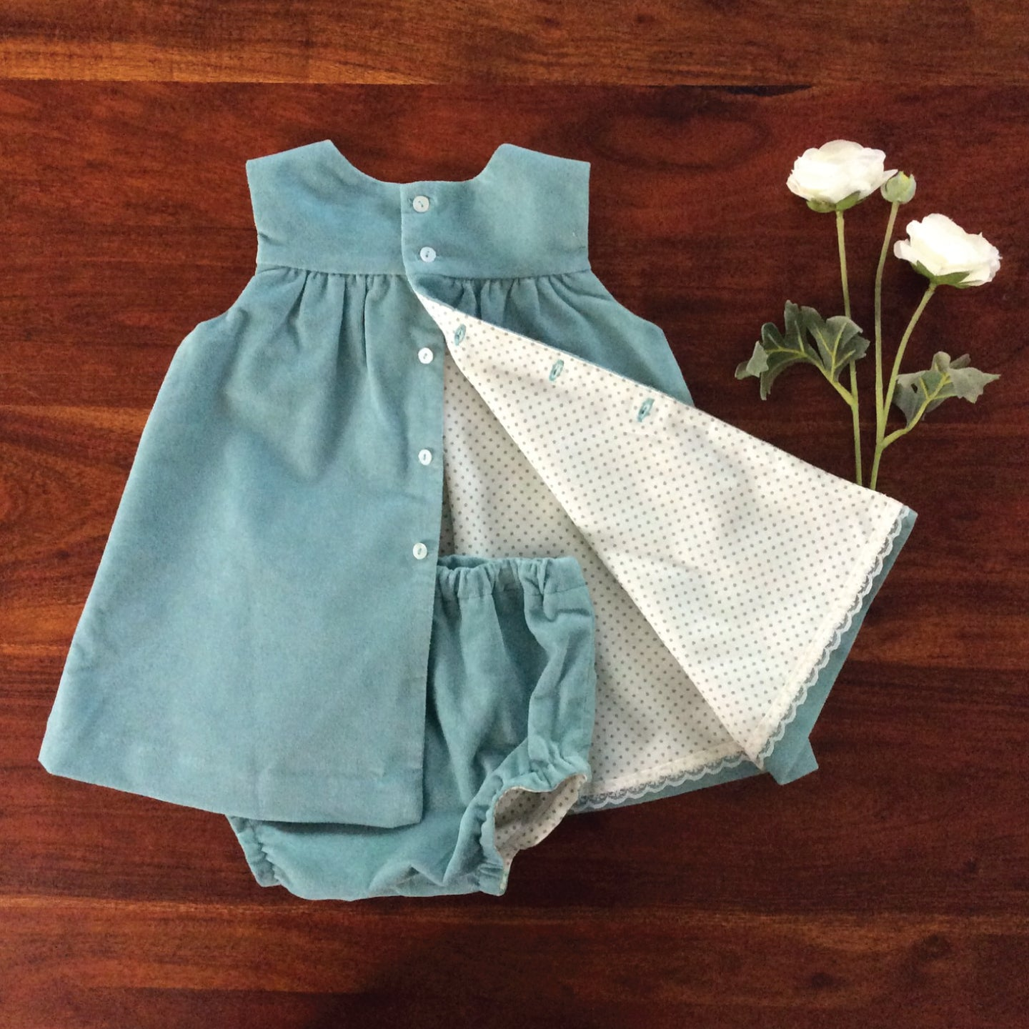 Aquamarine Velveteen Dress