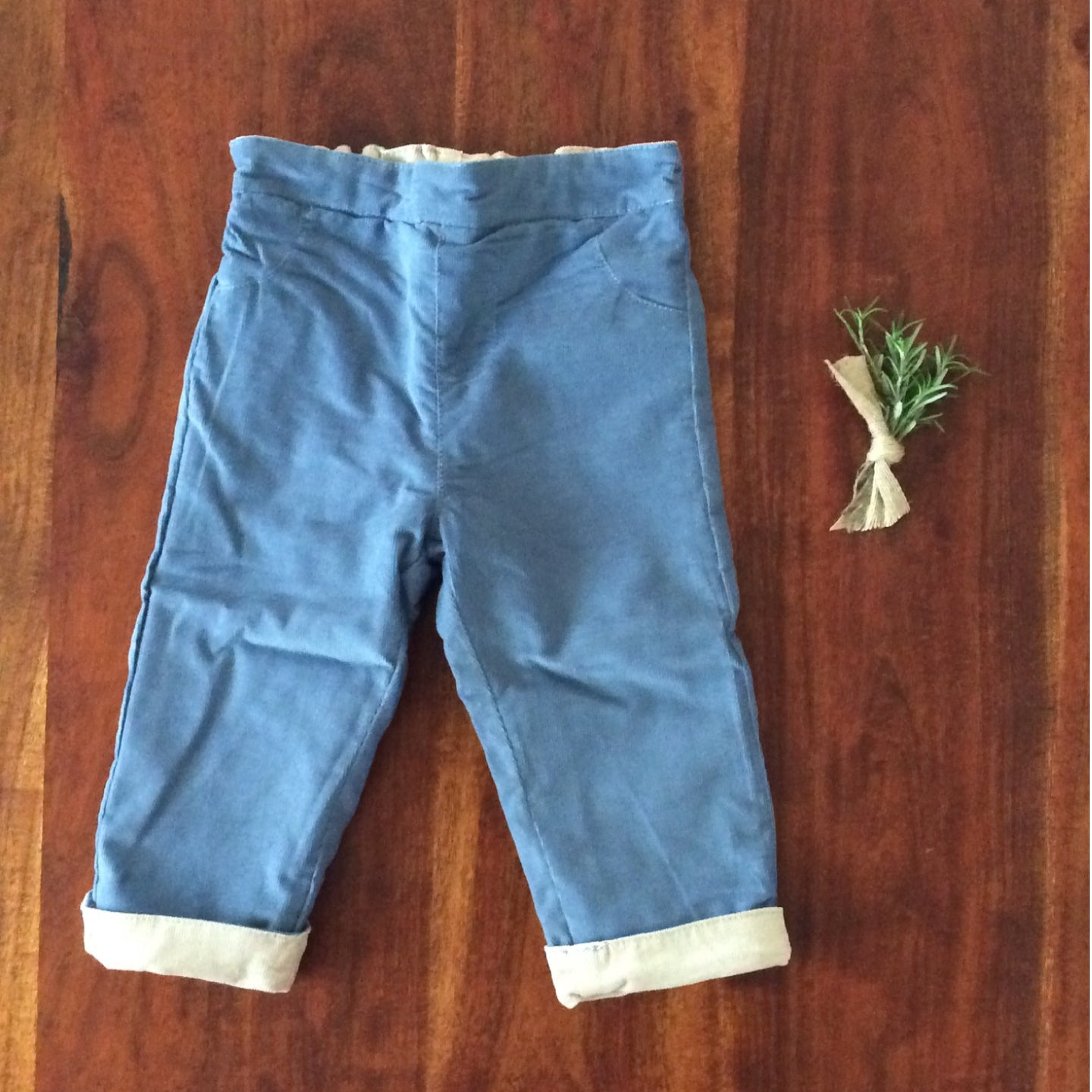 reversible baby corduroy pants