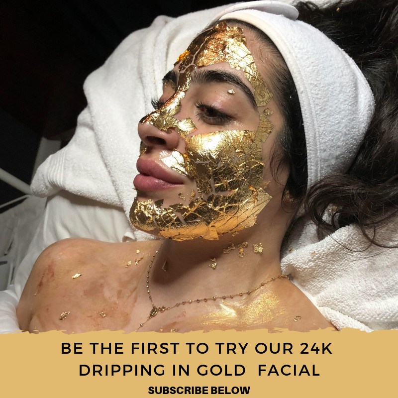 Dripping In Gold Facial | Models Needed