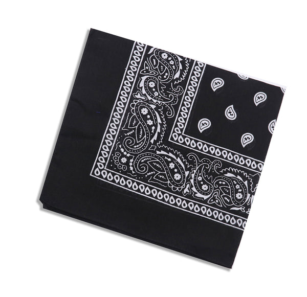 Black cotton bandana / mask