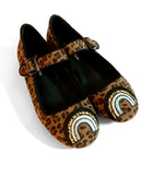 LAST CHANCE! Grade B Limited Dark Leopard and Cheetah Rainbow Mary Jane Shoes