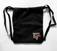 Weird Mother 80s Patch on Heavyweight Black Canvas Cinch Backpack
