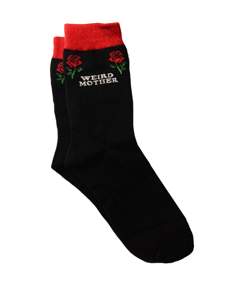 Weird Mother and Roses Socks (size 5-10).