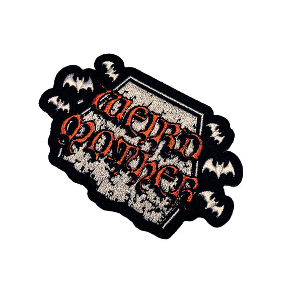 Tombstone Halloween Weird Mother Patch 3 inches tall