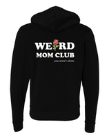 NEW Black Hoodie with Weird Mom Club and Roses Design (Front/back)