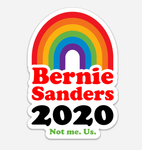 Bernie Sanders Vinyl Sticker, 4x2 inches. (Digital rainbow).