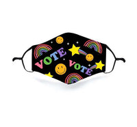 VOTE Rainbow and Stars Face Mask with one insert