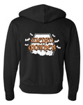 Special Halloween Weird Mother Tombstone and Bats Hoodie, Unisex