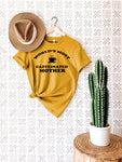 World's Most Caffeinated Mother Shirt in Unisex Mustard