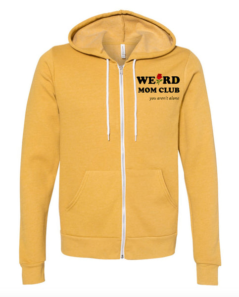 PRESALE Mustard Hoodie with Weird Mom Club and Roses Design (Front/back)