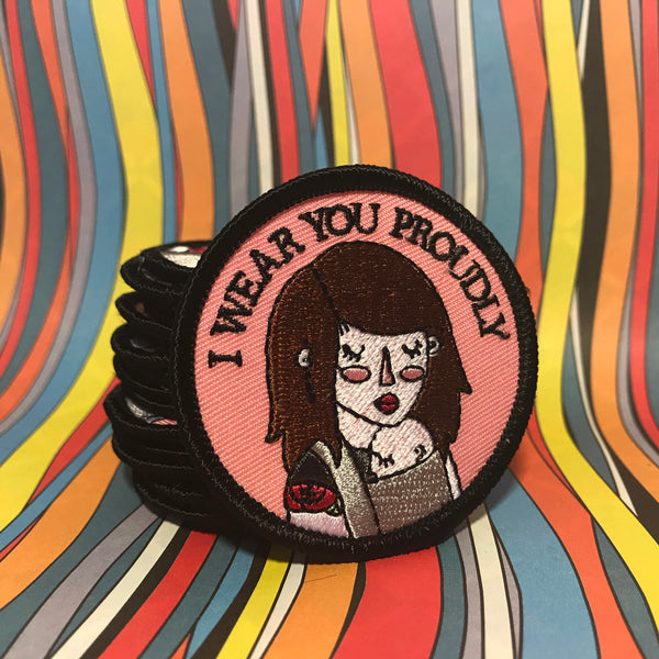 I Wear You Proudly, Baby wearing patch. 2 inches in size.