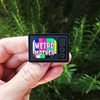 Weird Mother TV Static Enamel Pin, Mother's Day