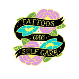 Tattoos Are Selfcare Hard Enamel Double Backed pin