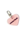 Mom Bod clear glitter keychain (large).