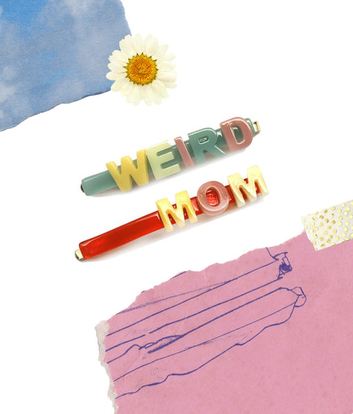 Weird Mom Hair Pin Clip Set / Barrettes (Plastic)