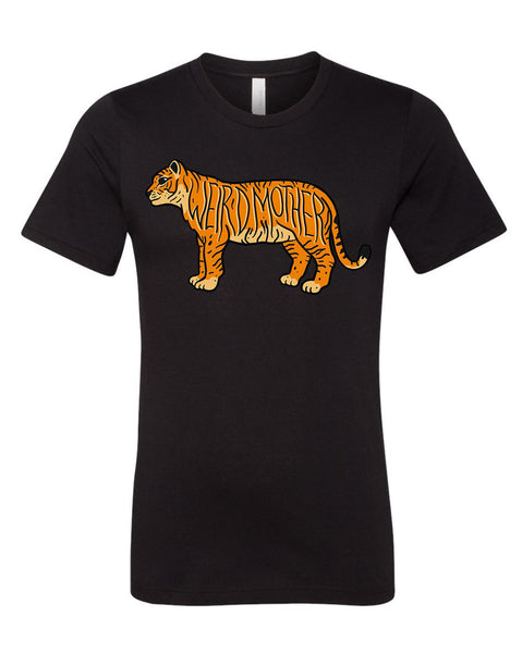 NEW Tiger Weird Mother Unisex Shirt in black