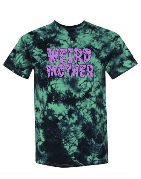 Weird Mother Drippy Lavender on Dark Aqua Dyed Shirt Unisex S-3XL