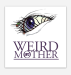 90s Eye Cartoon Weird Mother 3x3 inch Square Sticker