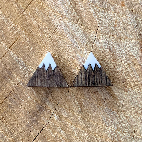 Mini Snowy Mountain Stud Earrings