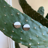 Wood and Acrylic Stud Earrings