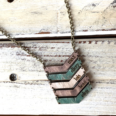 Wood Name Necklace