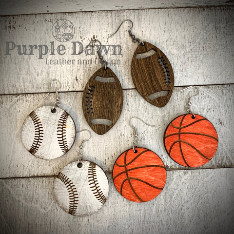 3 Pack - Sports Earrings