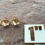 Wood Rougher Mascot Post Earrings