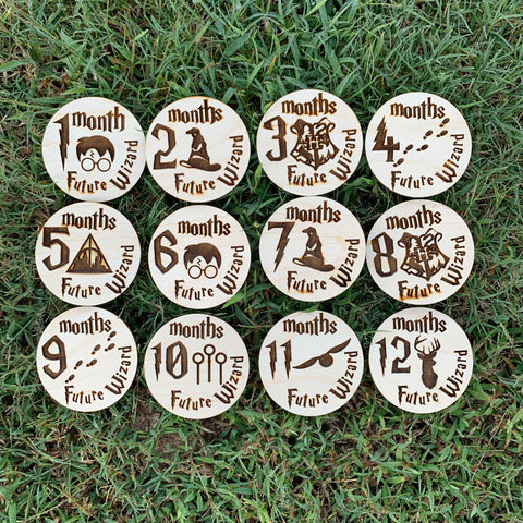 Harry Potter Inspired Milestone Markers