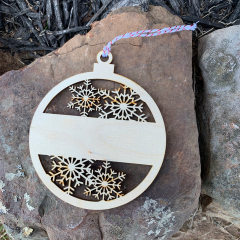 Snowflake Wood Ornament