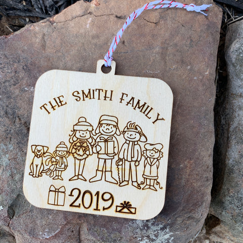 Wood Family Ornament