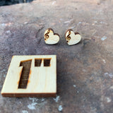Musical Heart Stud Earrings