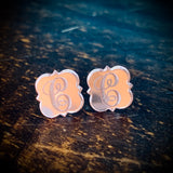 Mirrored Initial Earrings