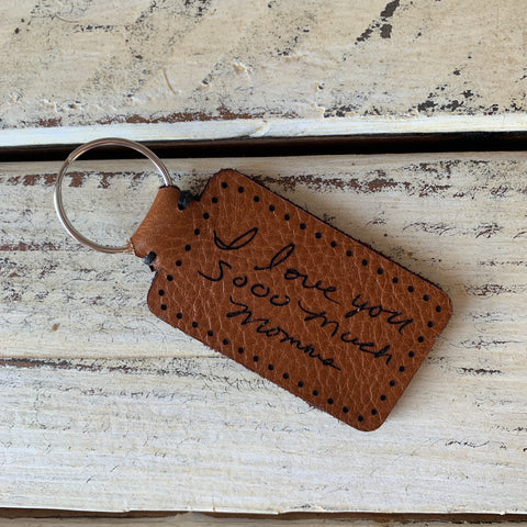 Leather Keychain with Custom Engraving