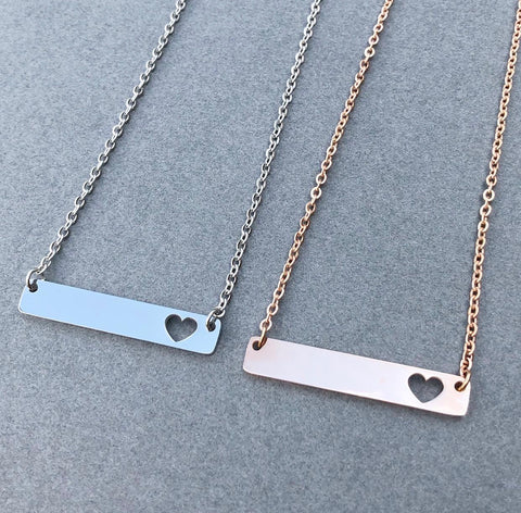 Engraved Metal Jewelry