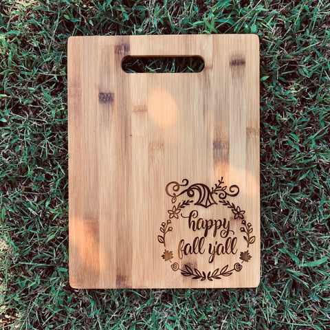 Happy Fall bAmboo Serving Board
